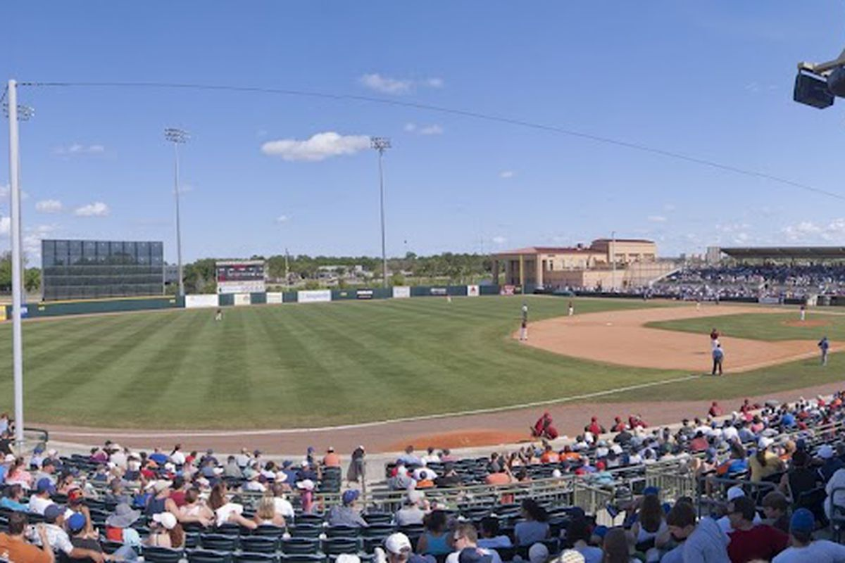 Osceola County Stadium - March 18, 2012. Houston Astros vs New York Mets