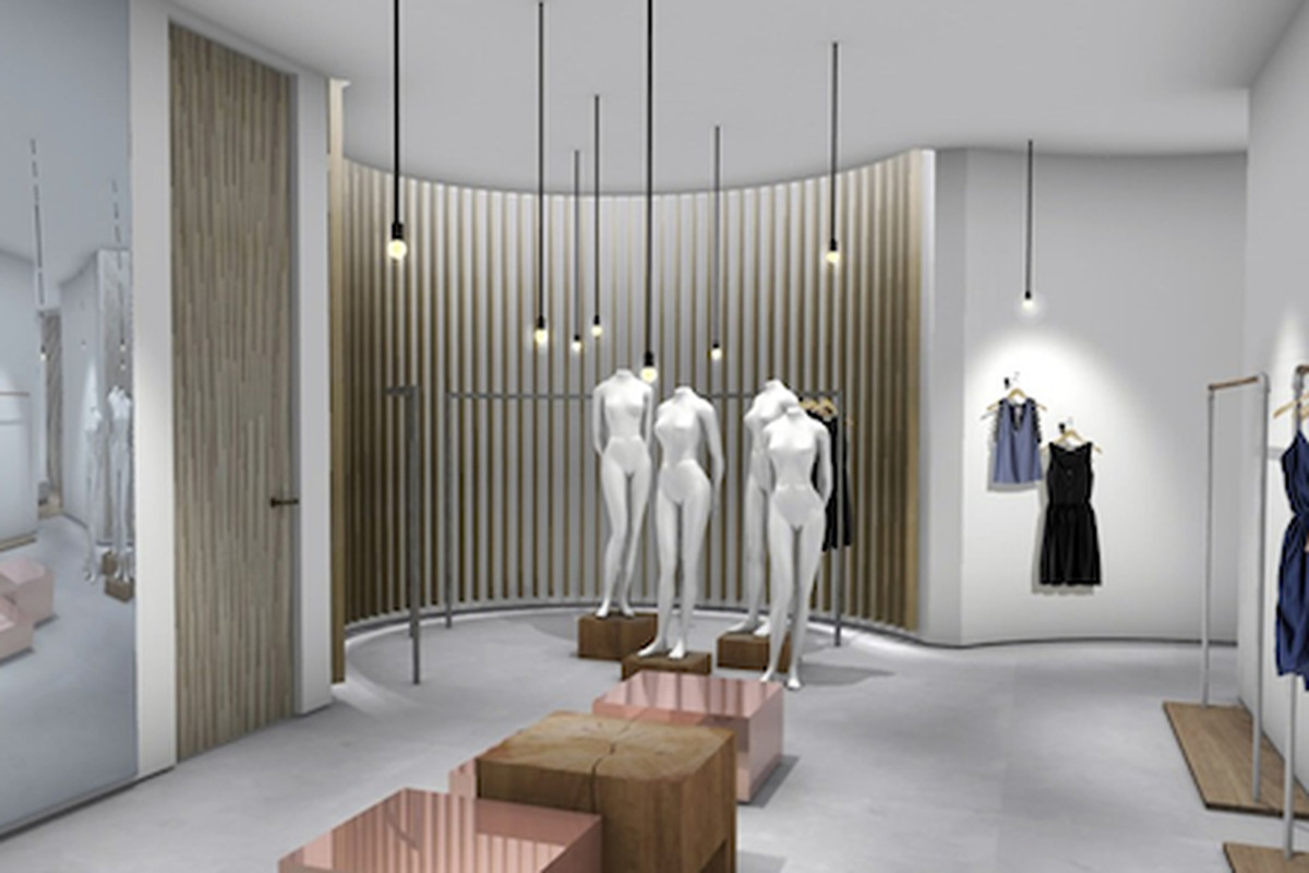 """A rendering of the store via <a href=""""http://www.wwd.com/retail-news/specialty-stores/rebecca-taylor-to-open-uptown-boutique-5869053"""">WWD</a>"""