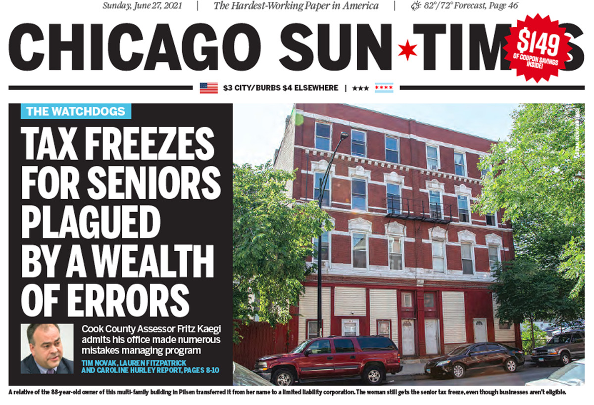 Click to read the June 27 Sun-Times investigation of errors with the senior freeze tax program.