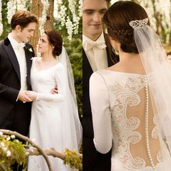 Breaking Dawn Part One (2011): Say what you will about Kristen Stewart, no amount of cursing and/or awkward poses could ruin this stunning mesh-backed gown.