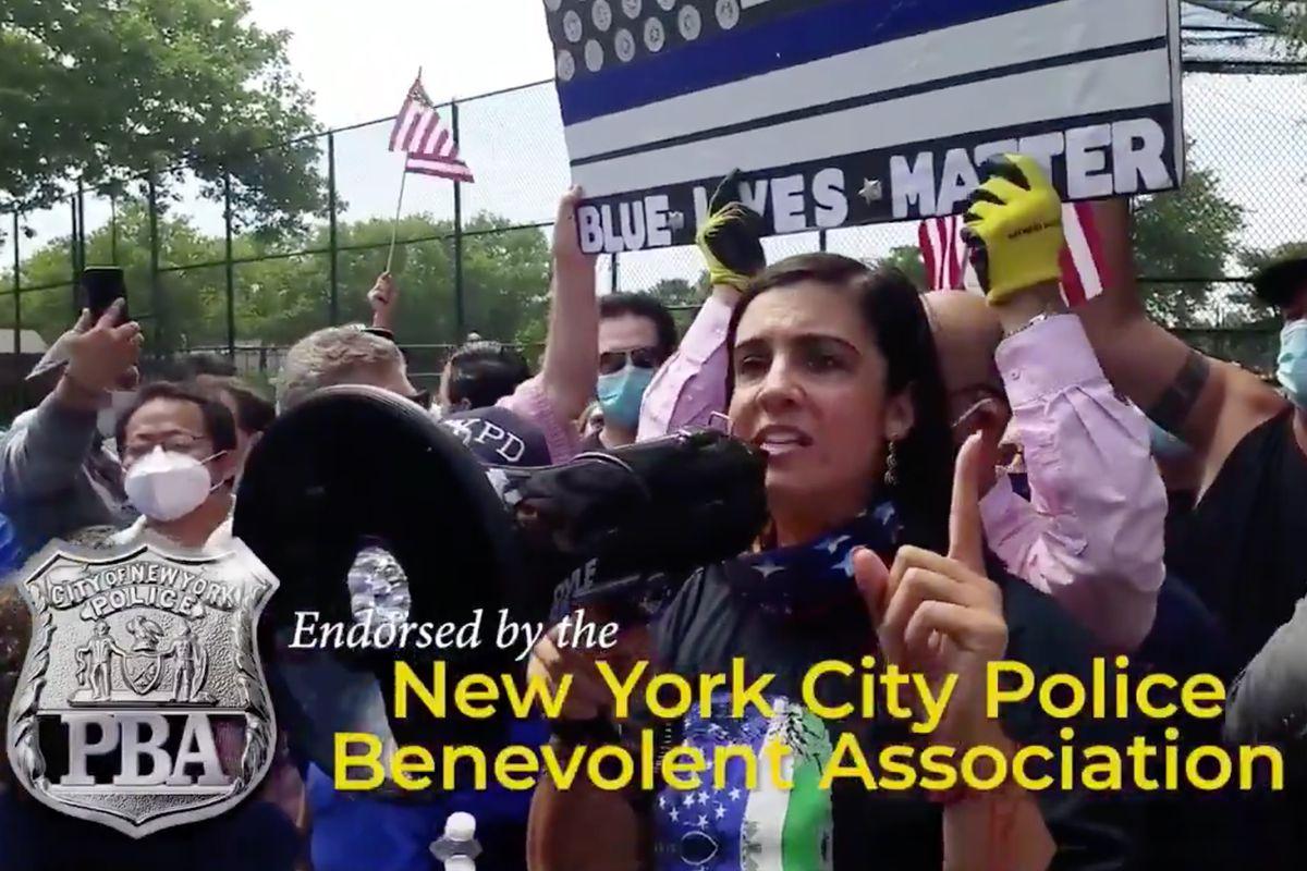 Assemblymember Nicole Malliotakis released an ad touting her support of police during her run to unseat Congressmember Max Rose.