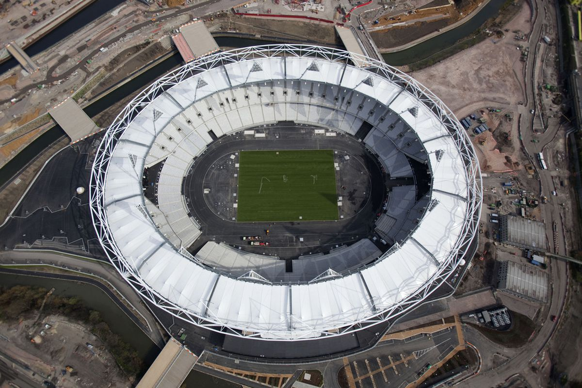 Bye bye Olympic Stadium? Not quite. (Photo by Anthony Charlton/Olympic Delivery Authority via Getty Images)