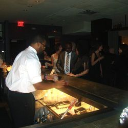 The VIP bar at the Chefs Ball.