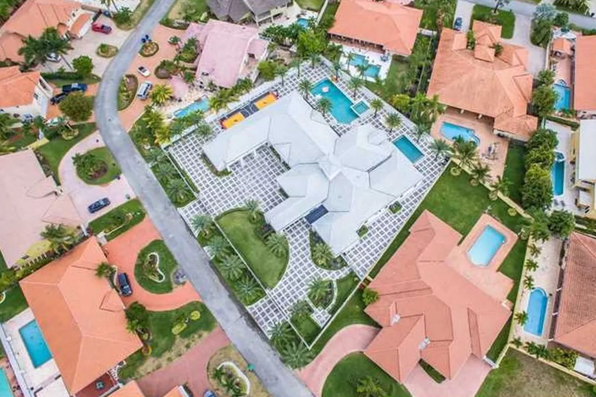 Aerial of Flo Rida's new home in Hialeah