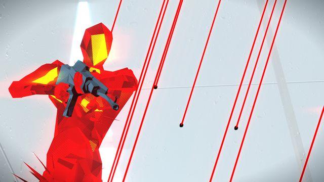 A red enemy in Superhot survives a shotgun blast
