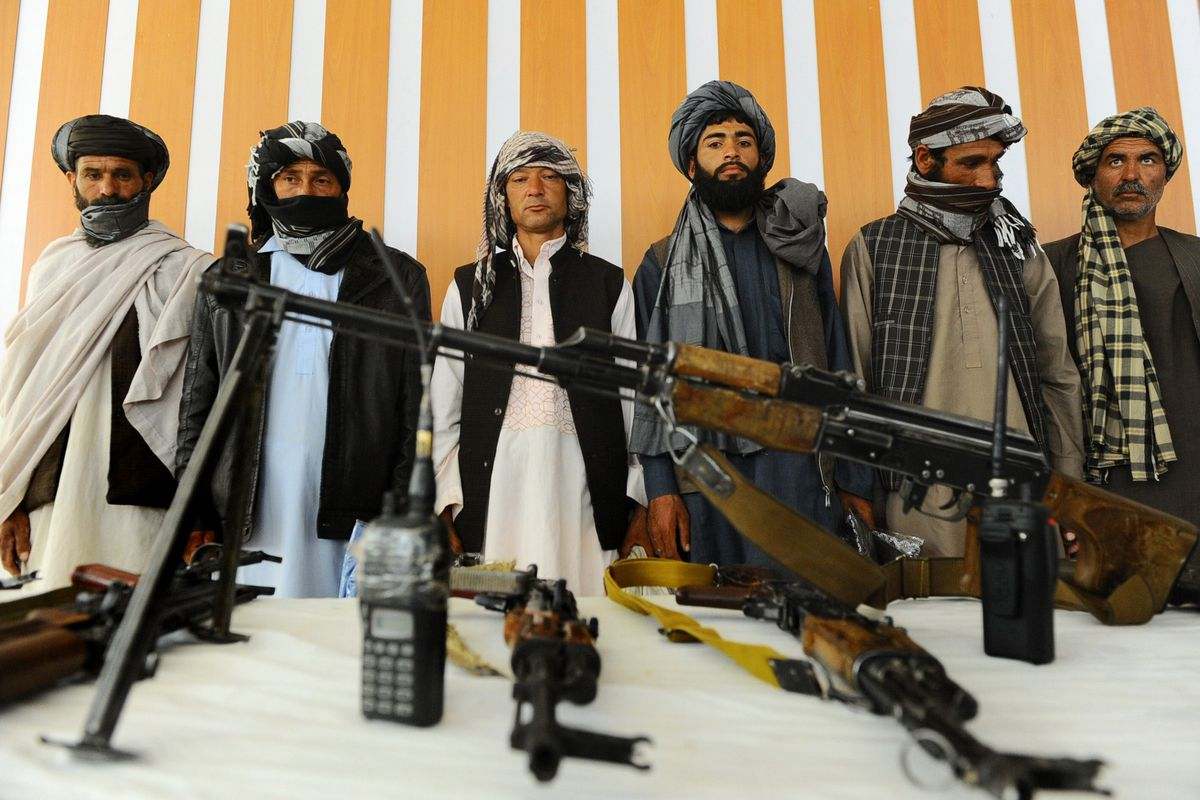 A group of former Taliban fighters.