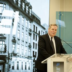 """Deseret News Editor Doug Wilks offers opening remarks during the """"Fifth Annual American Family Survey: Myths about families, plus what Americans really think about paid family leave"""" panel discussion at the American Enterprise Institute in Washington, DC, Thursday, September 12, 2019."""