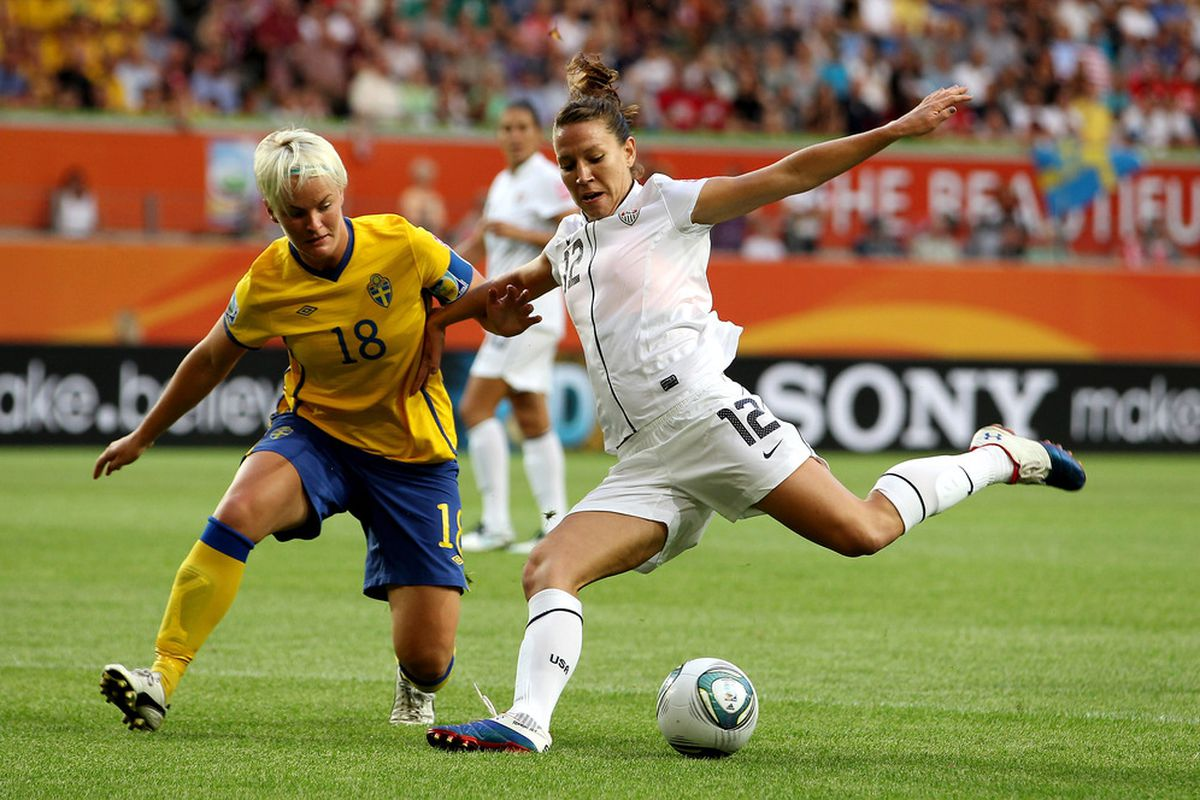 Bruin legend Lauren Cheney leads USA against Brazil today in the quarterfinals of the World Cup. (Photo by Scott Heavey/Getty Images)
