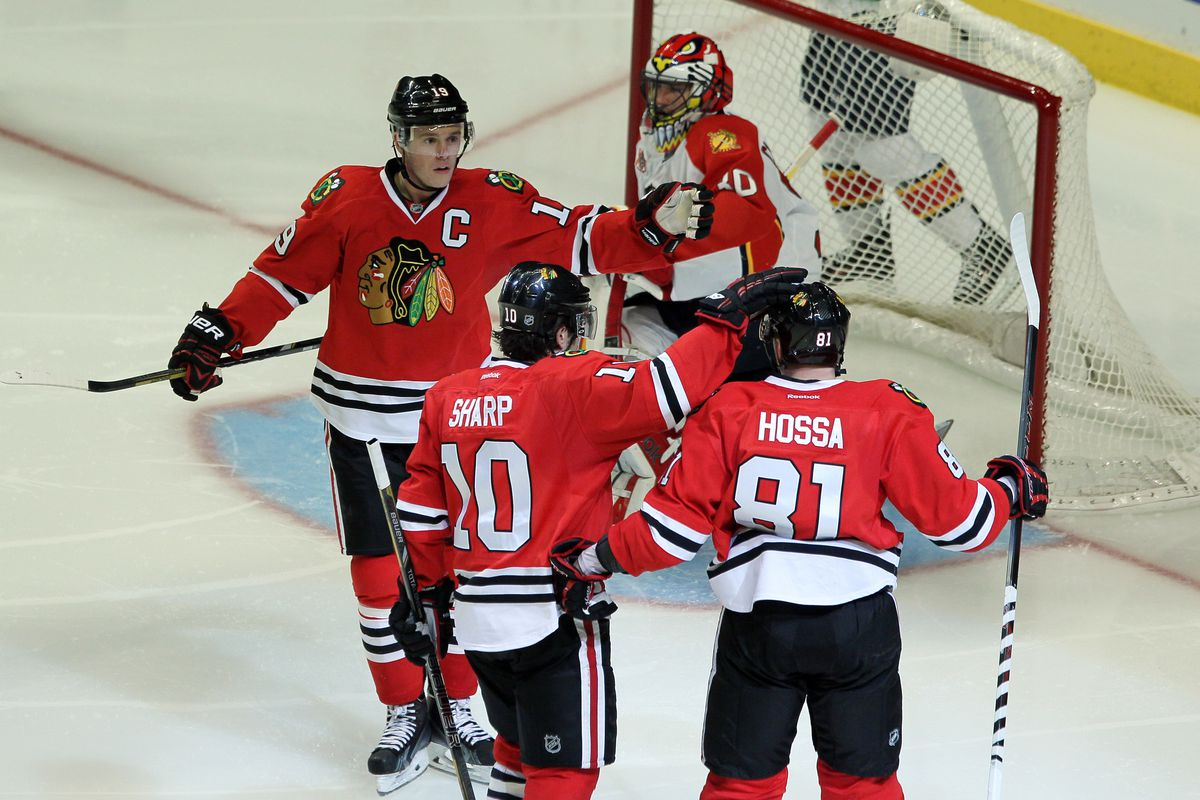 The Blackhawks had an easy time with Clemmensem and the Panthers.