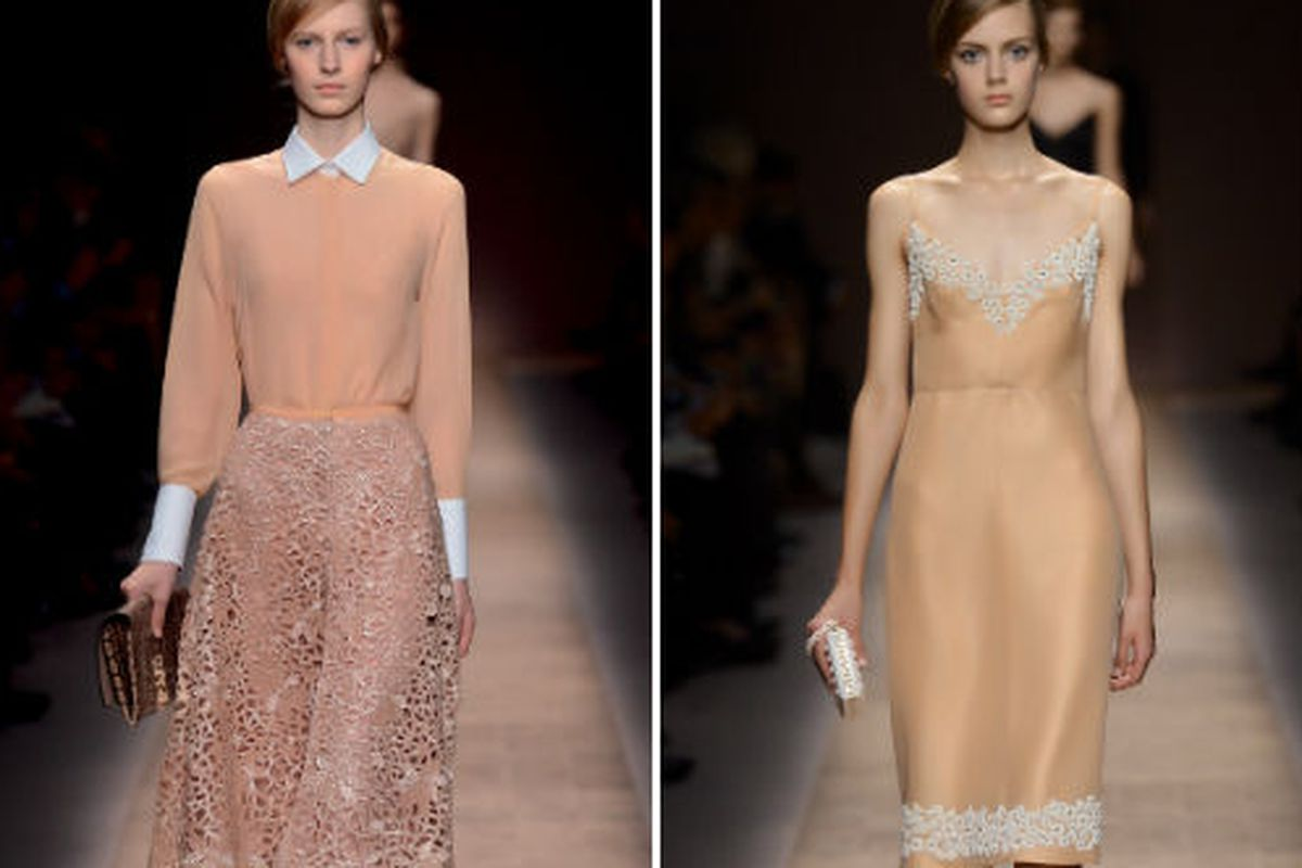 """Two looks from Valentino's <a href=""""http://www.valentino.com/en/collections/ready-to-wear/lines/spring-summer-2013/27"""">spring/summer</a> collection"""