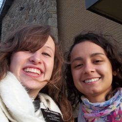 Sister McKenna Rasband, left, who was a sister training leader in the LDS Church's France Paris Mission, trained Sister Fanny Clain, right, during an exchange together a week before Christmas.
