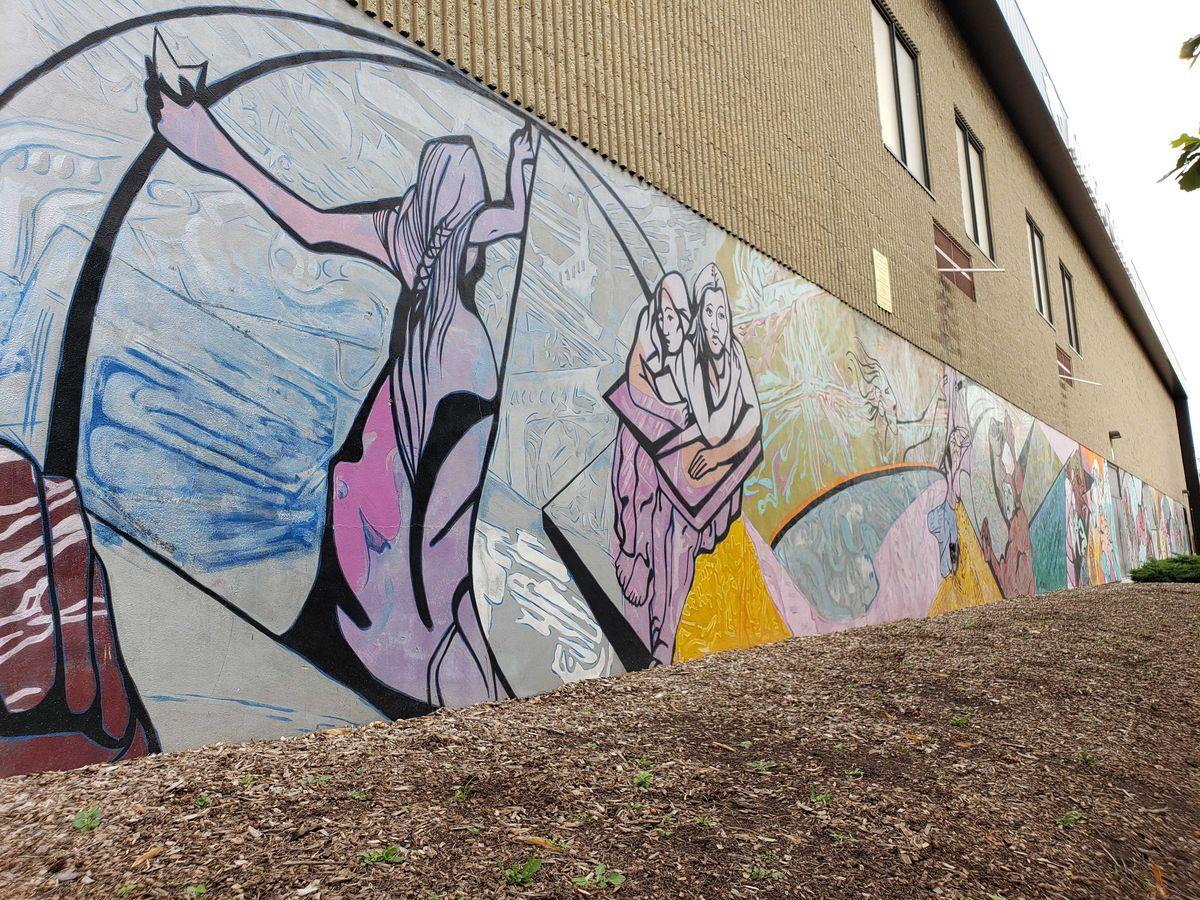 """""""A La Esperanza"""" mural at Benito Juarez Community Academy."""