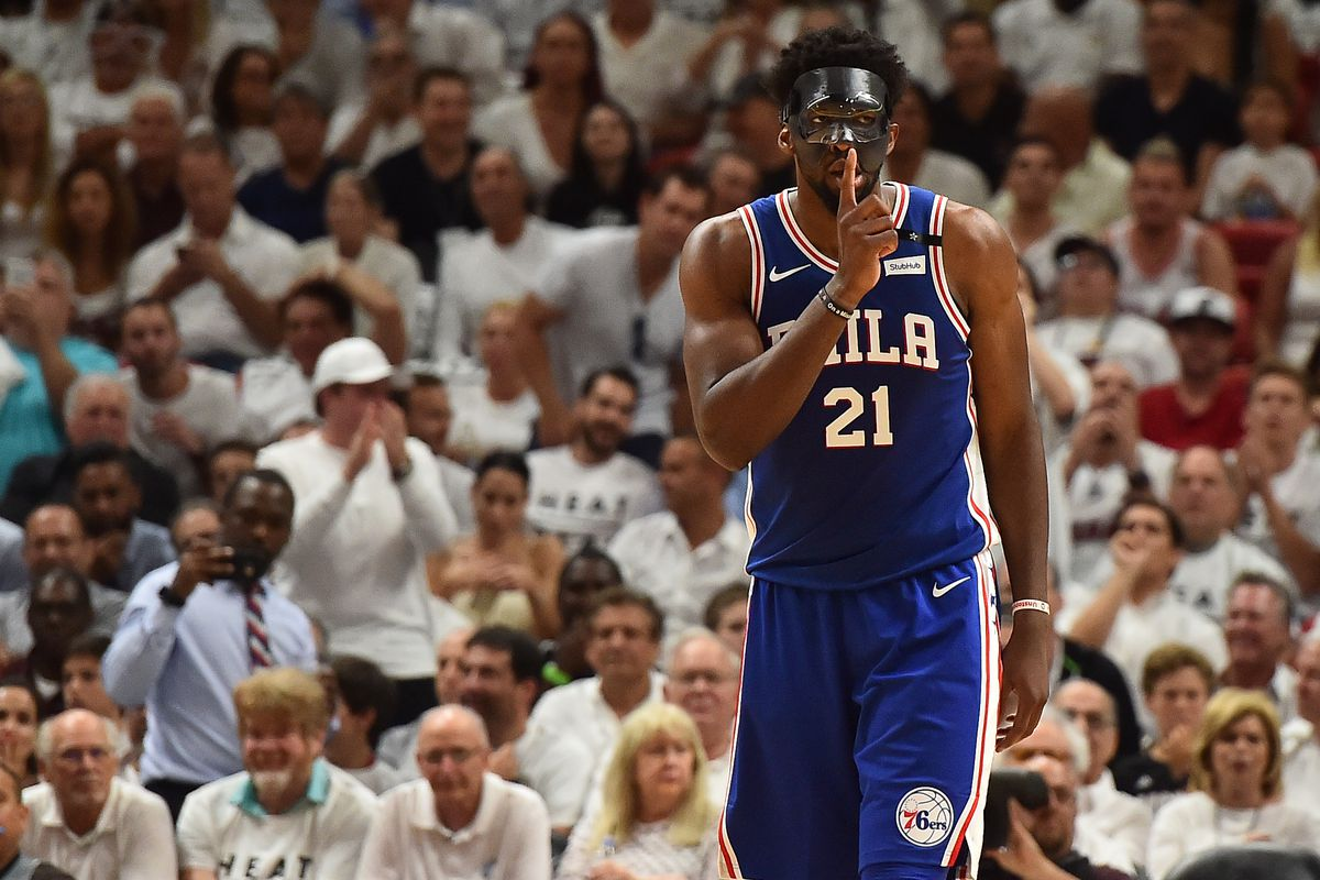 76ers vs. Heat Game 3: Joel Embiid's mask came off. Sixers ...