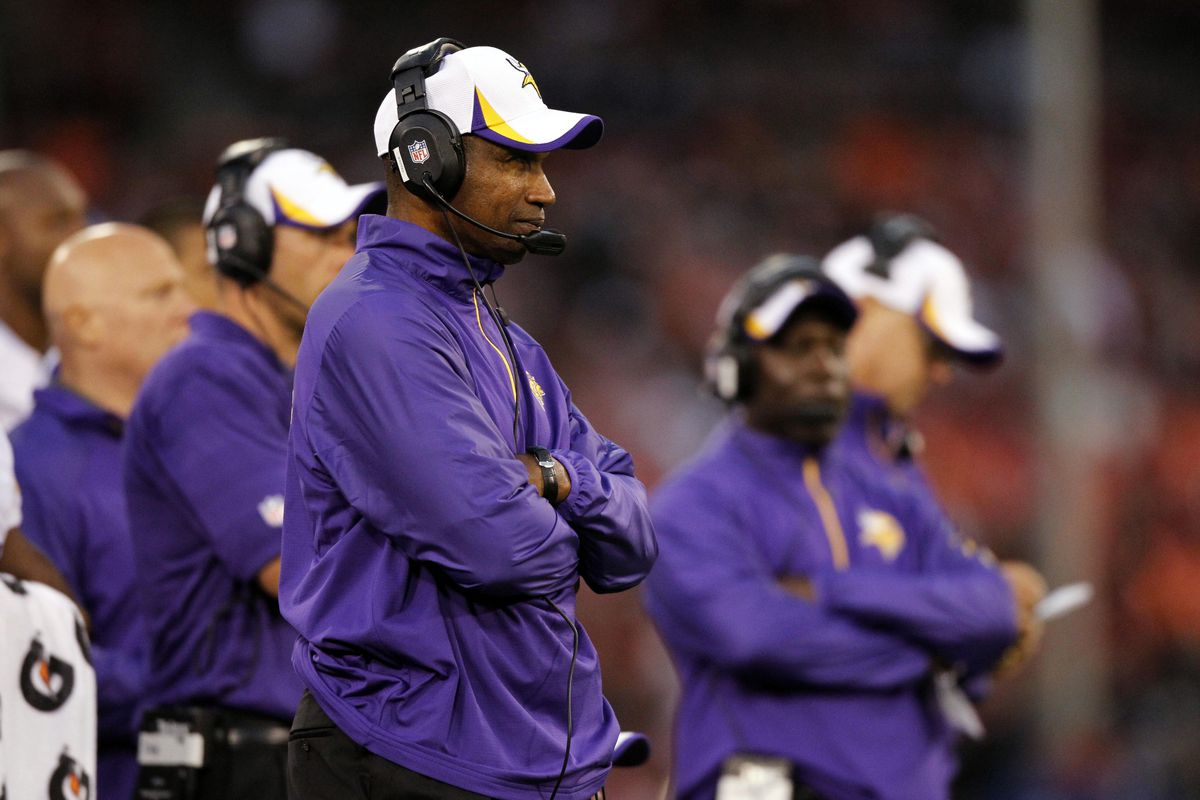 If you're currently on the Vikings' roster, you do not want to see this man today.
