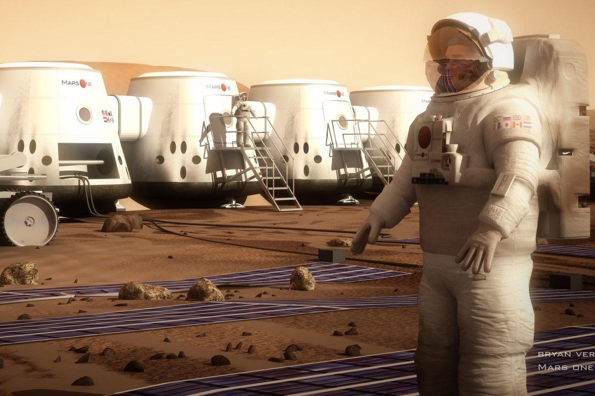 A rendering of Mars One's habitat.