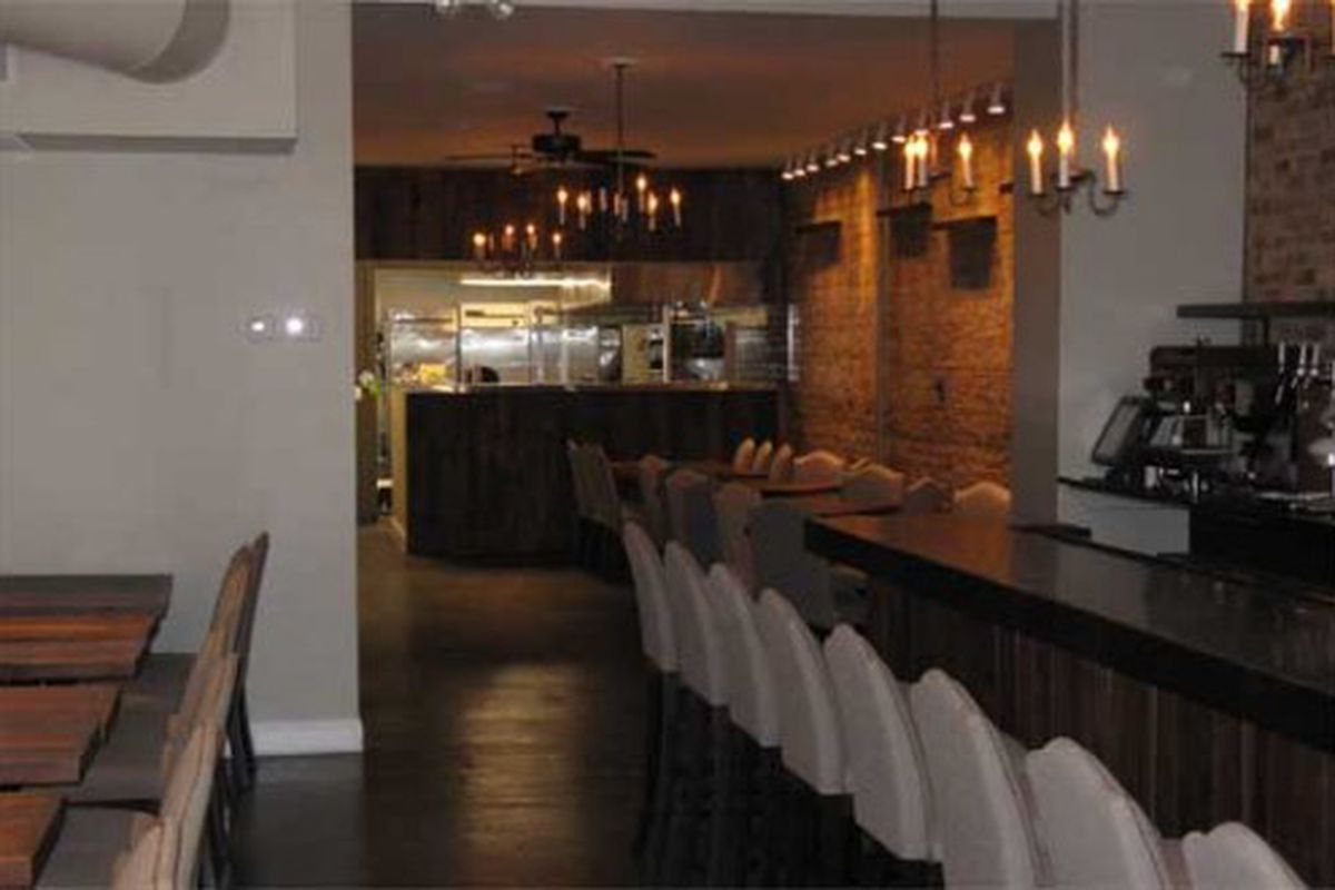 Looking from the bar toward the kitchen