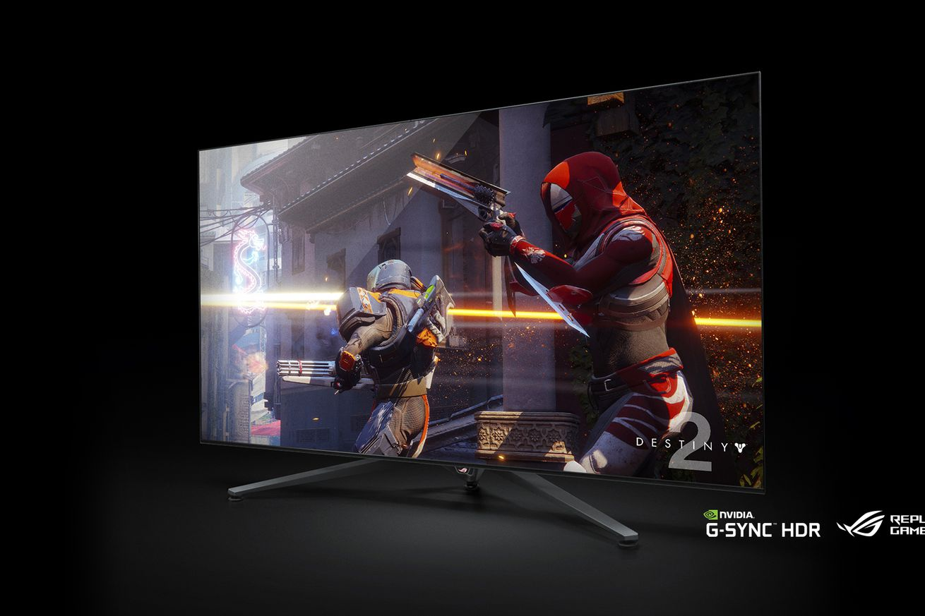 nvidia is creating 65 inch 4k hdr gaming displays with 120hz g sync