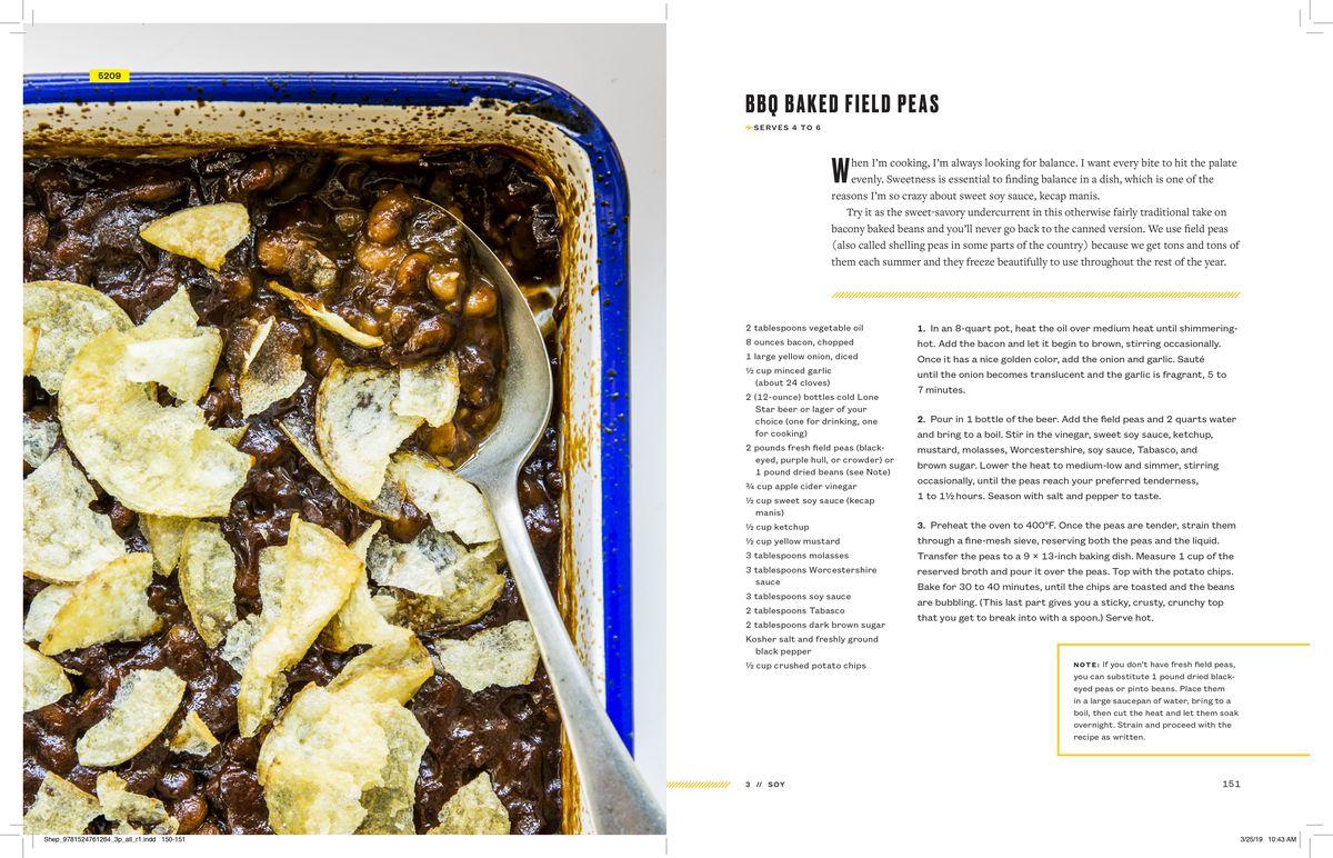 BBQ baked field peas recipe