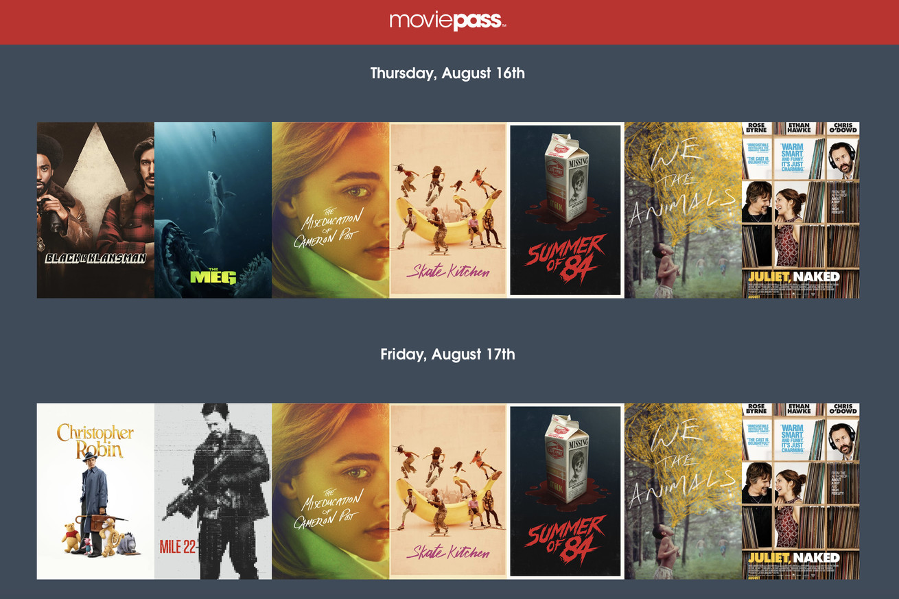 the new moviepass plan has arrived and it s weird