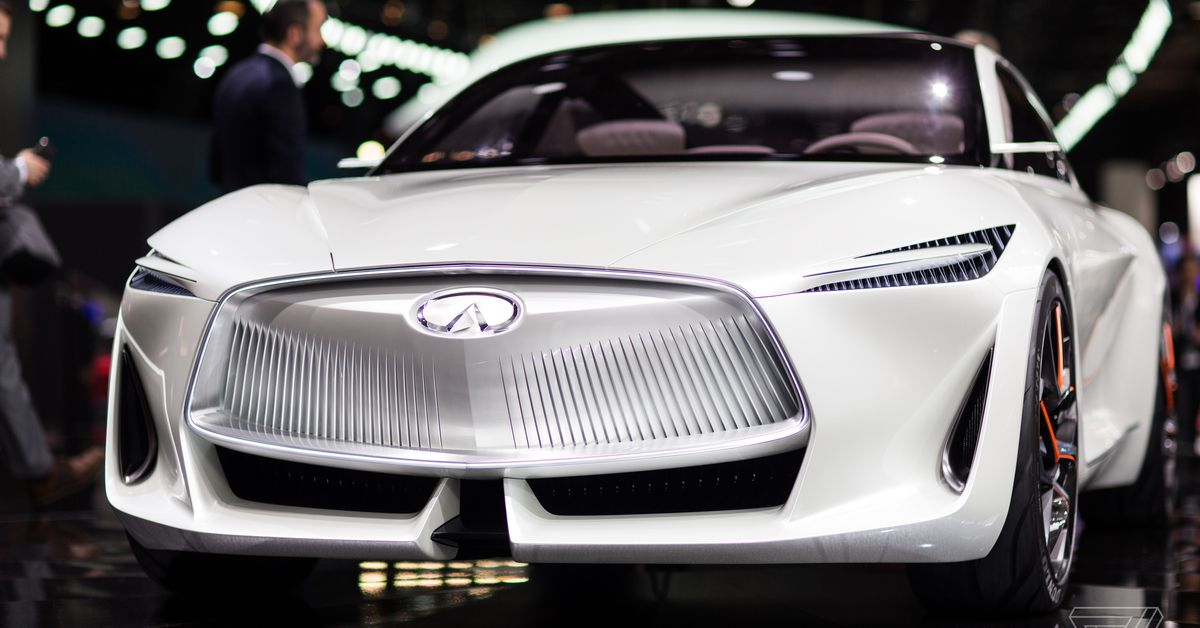 Infiniti's new concept car is a land yacht for movie villains