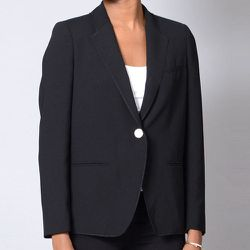 """<b>Girl by Band of Outsiders</b> Cabrini Merrow Edge Blazer, <a href=""""http://shopbird.com/product.php?productid=27421&cat=0&manufacturerid=&page=1"""">Price upon request</a> at Bird"""