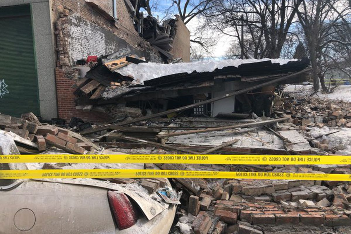 Crews responded to a building collapse at 5617 S. HalstedSt. on Feb. 14.