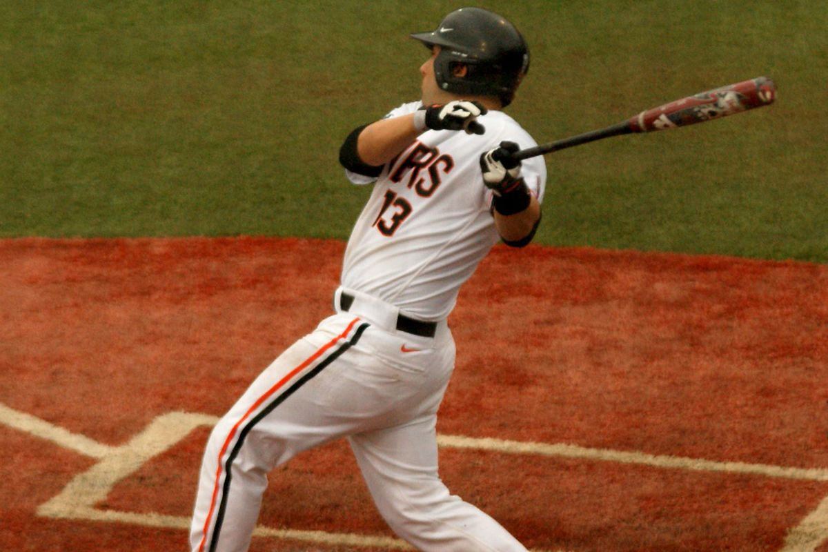 Jake Rodriguez had a big game for the Beavers on Sunday. (Photo by Andy Wooldridge)
