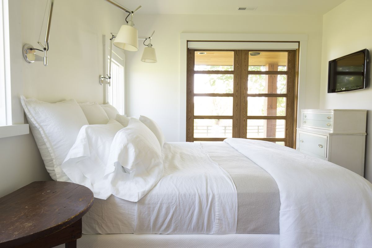 The Rules Of White Bedding Racked