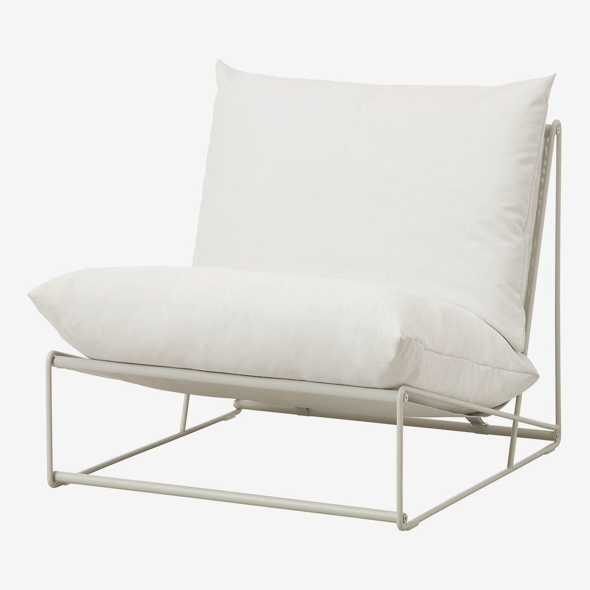 White chair on a white frame.