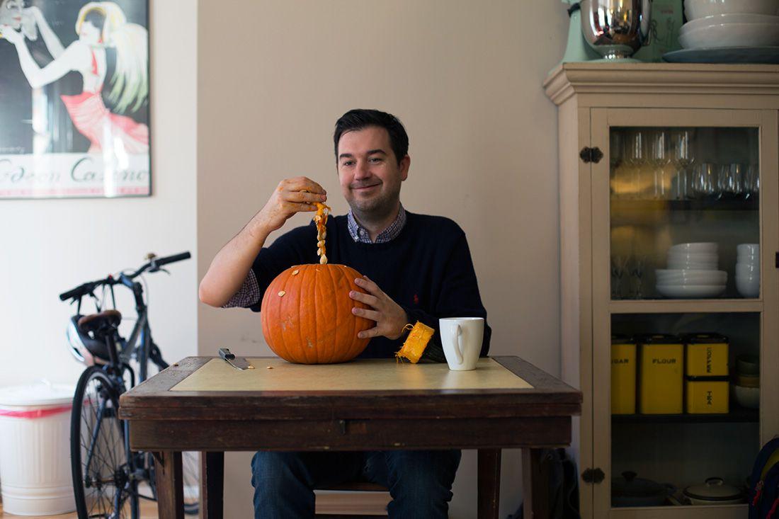 put penis in pumpkin