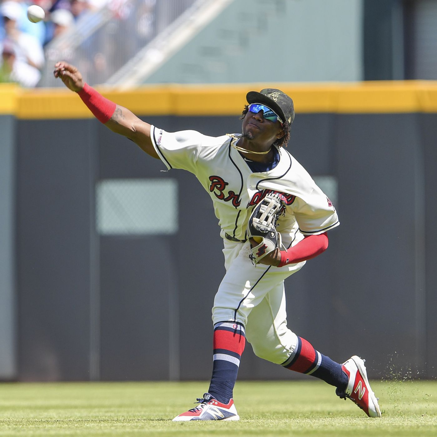 Size: 8 x 10 Ronald Acuna Atlanta Braves First MLB Game Photo