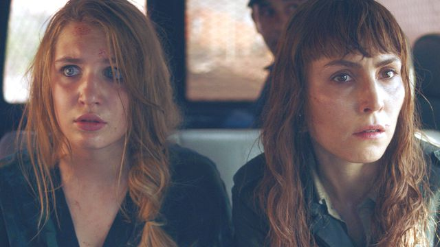 Sophie Nélisse as Zoe Tanner and Noomi Rapace as Sam Carlson in <em>Close</em>.