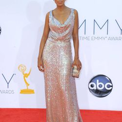 Actress Kerry Washington arrives at the 64th Primetime Emmy Awards at the Nokia Theatre on Sunday, Sept. 23, 2012, in Los Angeles.