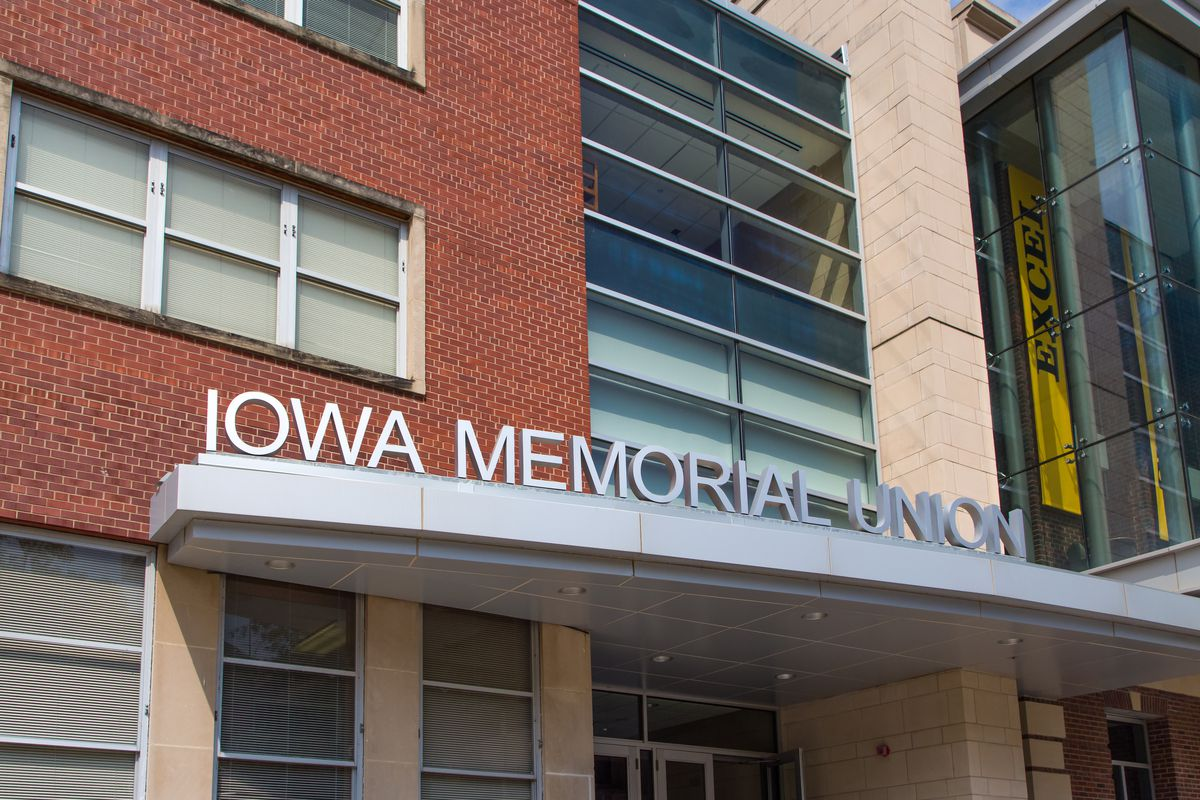 The Iowa Memorial Union at the University of Iowa, shown in August 2015.