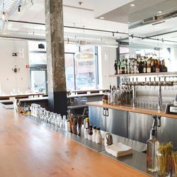 There are 10 wines by the glass offered on tap at The Kitchen Denver.