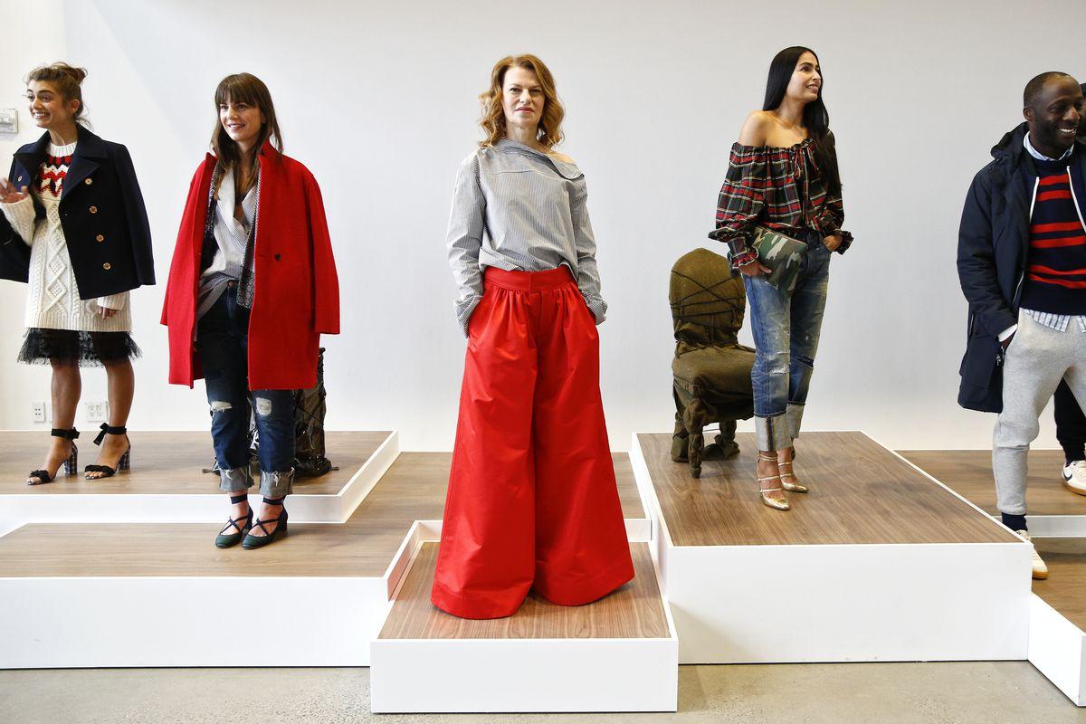J.Crew models at a New York Fashion Week presentation.
