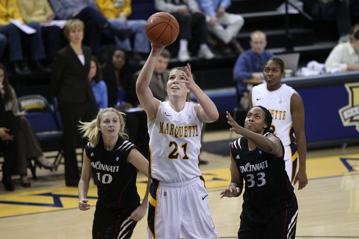 Katherine Ploufe (21) is the driving force behind Marquette this season.