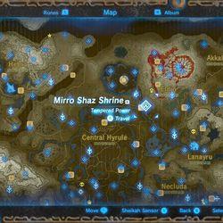 Mirro Shaz shrine map location