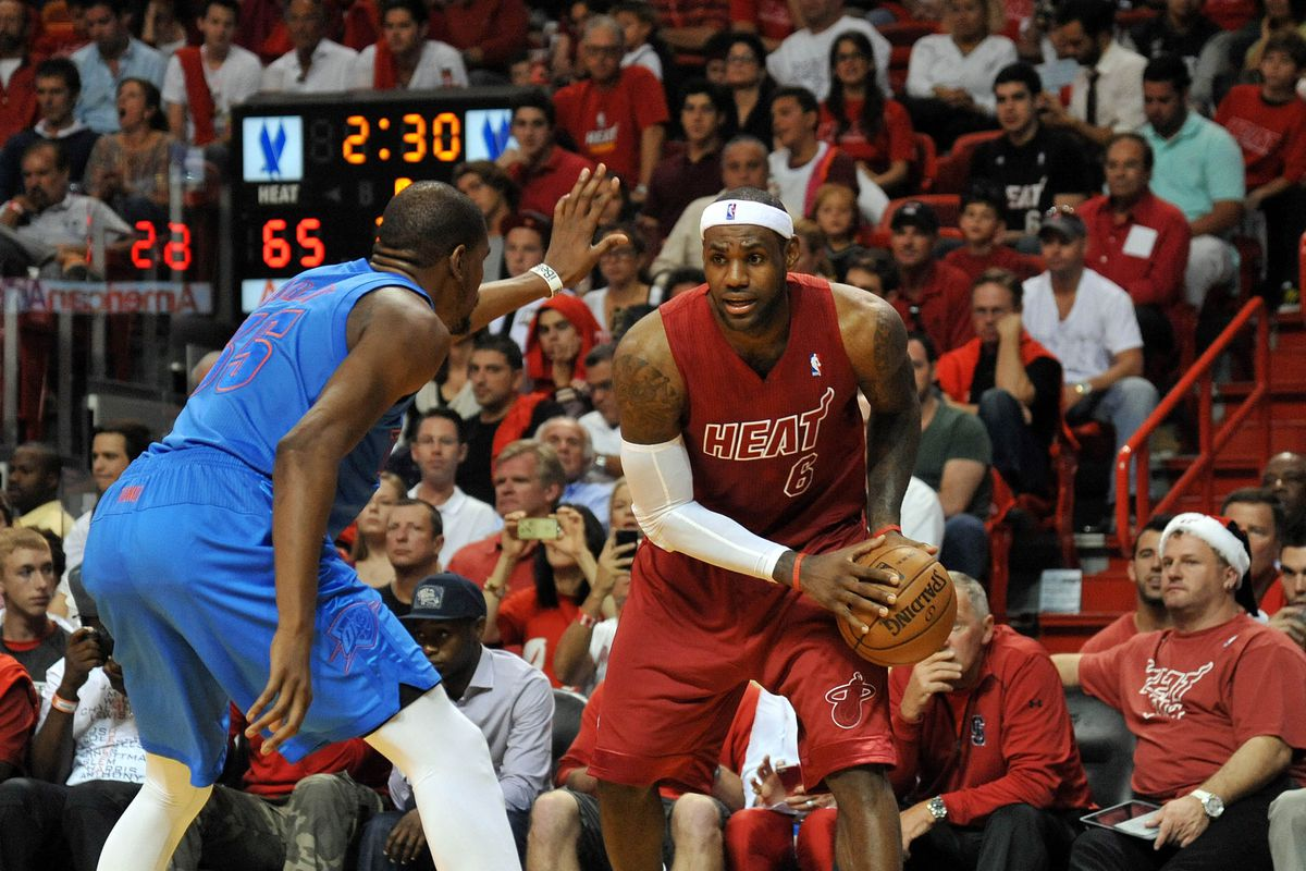 Can Kevin Durant stop LeBron James' hot shooting streak?
