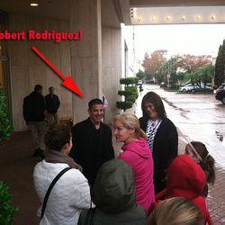 Designer Robert Rodriguez greeting fans