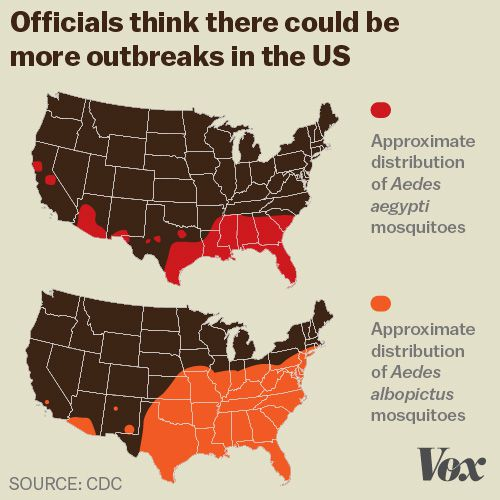 Zika Virus Explained In Charts And Maps Vox - Spread on a map us