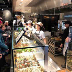 The busy lunch crowd at Bonci in Chicago. | Sun-Times Staff