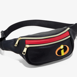 """<a class=""""ql-link"""" href=""""https://www.hottopic.com/product/her-universe-disney-pixar-the-incredibles-logo-fanny-pack/11390428.html"""" target=""""_blank"""">The Incredibles Fanny Pack</a>, $16.03"""