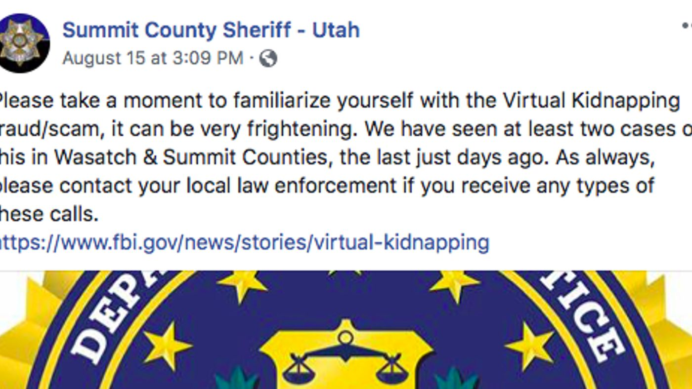 Virtual kidnapping scams are popular and terrifying