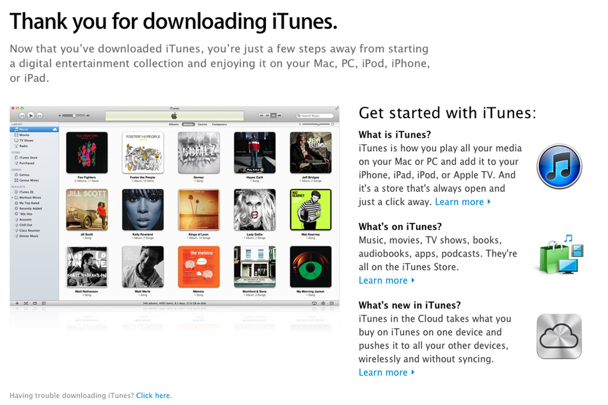 iTunes 10 6 now available to download at Apple com, supports