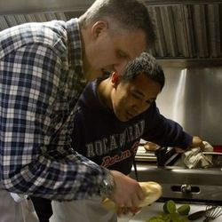 Rene Lenger and his sous chef Roy Lumansoc.