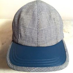 """<strong>Victor Osborne</strong> Dart Ball Cap in Prince of Wales Suiting, <a href=""""http://www.teichdesign.com/pages/store-info"""">$125</a> at Teich"""