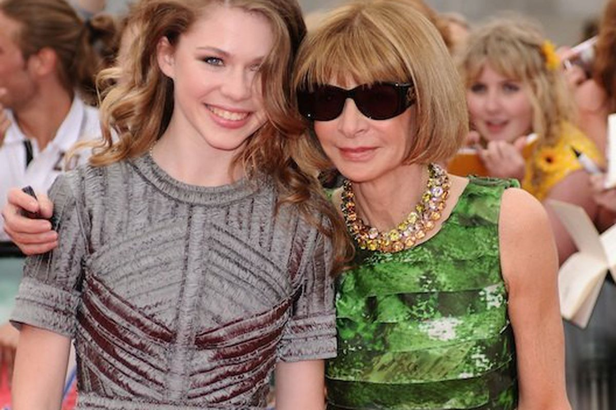 Anna Wintour with her niece at the Harry Potter premiere, via Getty Images