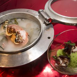 20,000 Leagues Under the Sea: Octopus and scallop