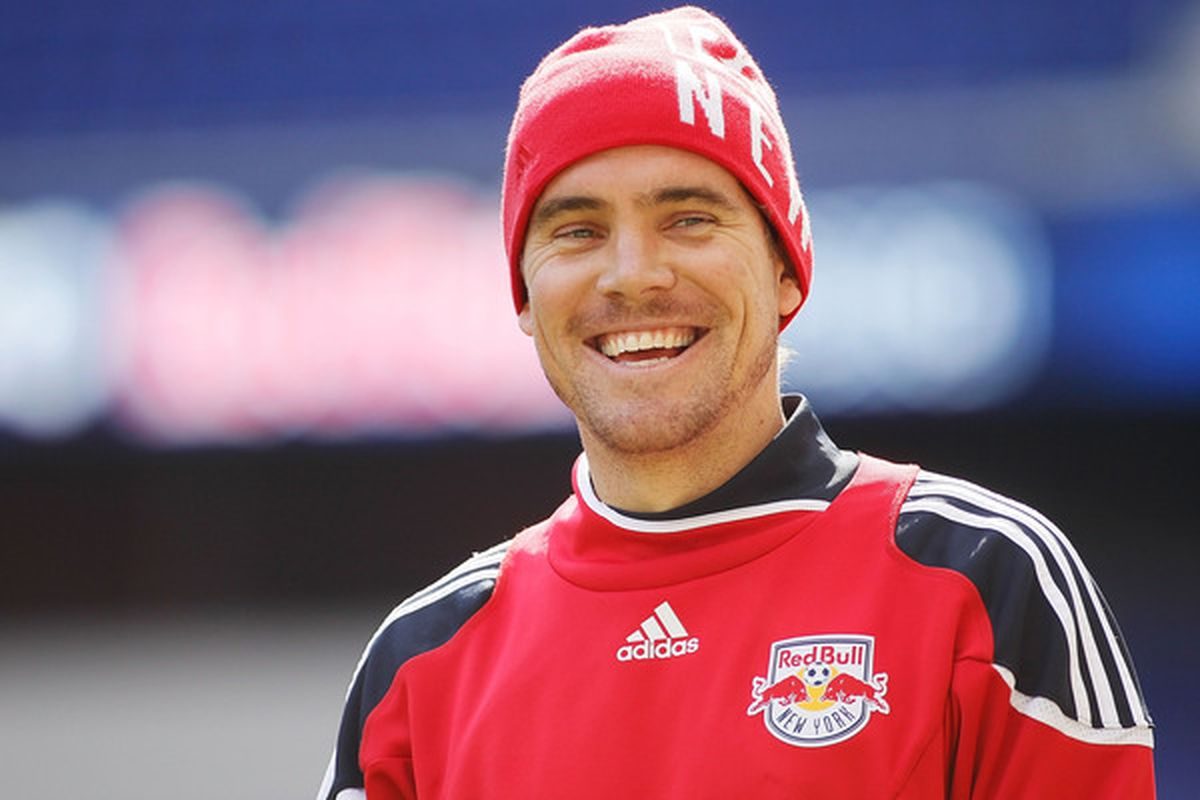 HARRISON, NJ - MARCH 15:  Chris Albright #3 of the New York Red Bulls looks on during an open practice on March 15, 2010 at Red Bull Arena in Harrison, New Jersey.  (Photo by Mike Stobe/Getty Images for New York Red Bulls)